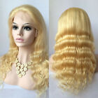 Stock 100% remy indian human hair full lace wig baby hair #613 bleach blonde hot