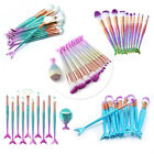 10pcs/Set Mermaid Beauty Makeup Brushes Eyebrow Eyeshadow So