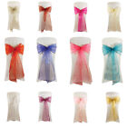 Job Lot Wholesale Bulk Buy Organza Chair Sashes Wide Bow Wedding Chair Sash