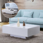 Modern High Gloss White Rectangle Coffee Table 2 Size for Home Office Furniture
