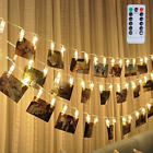 picture hanging clip - 4M 40 LED Photo Hanging Clips String Light Remote Control Battery For Pictures