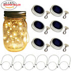 Solar Mason Jar Lid Lights, 6 Pack 20 Led String Fairy Star Firefly Lids...