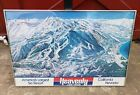 Vintage HEAVENLY Laka Tahoe Ski Trail Map Nagel A Parkhurst Travel Poster RARE