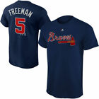 Youth Atlanta Braves Freddie Freeman Majestic Navy Blue Jersey T-Shirt on Ebay