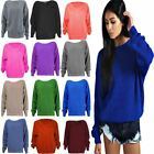 Women Ladies Oversized Thick Chunky Knitted Jumper Long Sleeve Baggy Sweater Top
