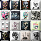 Square Skull Painting Throw Pillow Cover Zipper Cushion Case