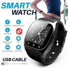 Unisex Bluetooth Smart Wrist Watch Waterproof For Apple iphone Samsung Phone UK