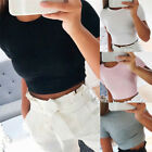 Summer Women Casual Tank Top Blouse Ladies Slim Print Crop Top T-Shirt/Sportwear