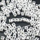 200pcs Acrylic Number and Alphabet Letter Beads Cube Round for Jewellery Making