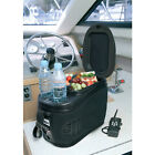Travel Electric Cooler Black Portable 12 Volt 2.3 Gallon with Cup Holders