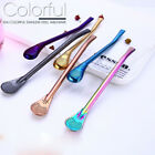 Stainless Steel Drinking Tea Spoons Mate Straw Gourd Filter Spoon Fashion