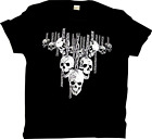 Retro Biker Motorcycle Skull & Chains Hanging Out Premium T-Shirt Sizes S-5XL