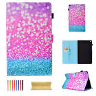 For Amazon Kindle Fire HD 10'' 2017 Folio Stand Smart Pattern Leather Case Cover