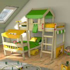 WICKEY CrAzY Trunky Bunk bed Children's Double Bed Adventure bed with roof