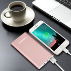 12000mAh Portable Power Bank External Battery Charger USB Type C for Smartphone