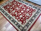Persian Rugs Classical 500 Red Black Area Rug