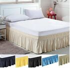 Elastic Bed Skirt Dust Ruffle Easy Fit any size King CA K Queen Full Twin