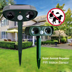 Set Solar Powered Ultrasonic Cat Dog Fox Animal Pest Repeller w/ Infrared Sensor