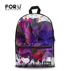 Floral Designs Backpack Women Girls School Bookbag Shoulder Satchel Canvas Bags