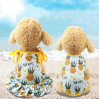 Cute Pineapple Pet Dog Cat Dress/Vest Summer Costume Apparel Couple Outfit Beamy