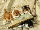 Ronner Cats Playing Fan Quilt Block Multi Sizes FrEE ShiPPinG WoRld WiDE
