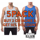 5 PACK PROCLUB MENS PLAIN TANK TOP SLEEVELESS MUSCLE TEE T SHIRT GYM FITNESS