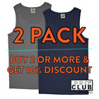 12 PACK PROCLUB MENS PLAIN TANK TOP SLEEVELESS MUSCLE TEE T SHIRT GYM FITNESS