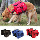 Dog Backpack Adjustable Pack For Outdoor Hiking Saddlebag Style with Water Bowl