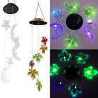 Solar Color Changing LED Wind Chimes Home Yard Garden Window Decor Lights Lamp