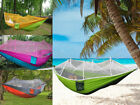 HOT Outdoor Travel Camping Hanging Hammock Bed With Mosquito Net Double Person