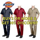 MENS DICKIES 33999 SHORT SLEEVE COVERALLS BLACK RED GREY KHAKI NAVY MEDIUM BLUE