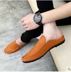 Mens Mules Loafers Comfy Shoes Faux Leather Moccasins Driving Casual Slip On