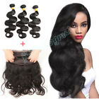 Malaysian 360 Lace Frontal Closure w/300G 8A Body Wave Human Hair Weft 3 Bundles