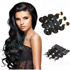 "13x4"" Body Wave Lace Frontal Closure w/300G Malaysian 8A Virgin Human Hair Weft"
