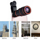 HD Clip-on 12x Optical Zoom Universal Telescope Camera Lens For Mobile iPhone US