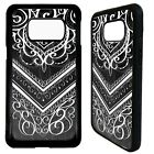 Indian henna floral pattern print case cover for Samsung Galaxy S6 S7 S8 S9 plus