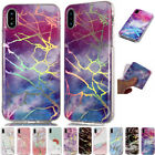 Bling Plating Marble Soft Silicone Case Cover For iPhone 4 5 6 7 8Plus XR XS Max