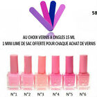 VERNIS A ONGLE NUANCE DE ROSE CLAIR FUSCHIA TOP COAT 15 ML VER049