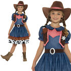 Texan Cowgirl Costume & Hat Childrens Girls Book Day Week Fancy Dress Outfit