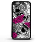 Sugar skull pocket watch clock rose flower skulls gothic art phone case cover