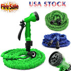 2018 Latex 25 50 75 100 Ft Expandable Flexible Garden Water Hose + Spray Nozzle
