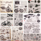 Внешний вид - Happy Bike Transparent Silicone Clear Stamp DIY Scrapbook Embossing Card Bicycle