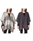 NEW! WOMEN'S IKE BEHAR REVERSIBLE FASHION WRAP SHAWL! VARIETY OF COLORS!