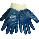 Global Glove Fully Dipped Solid Nitrile Work Gloves with Knit Wrist, 12 Pair