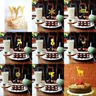 Pack of 20pcs Paper Christmas Snowflake Deer Cupcake Pick Ca