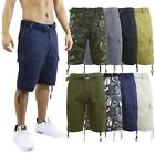 Kyпить Mens Cargo Shorts Cotton Zip Button Belted Distressed Pockets Slim Fit Lounge на еВаy.соm