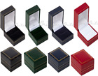 Ring Boxes, Leatherette Ring Boxes RED, GREEN, BLACK, BLUE ,
