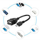 10cm 5V Micro USB 5 Pin Male Host OTG Hub to USB 2.0 A Female Adapter Cable Lead