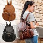 Women's Vintage Leather Backpack School Backpack Shoulder Travel Rucksack Bag image