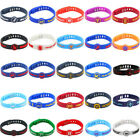 Silicone Wristband Rubber Bracelet Adjustable for nba Basketball Sport Run Gift
